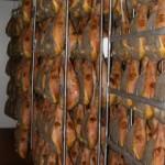 Guidovie ad uso alimentare Telai inox porta prosciutti